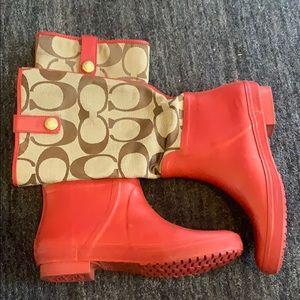 ⬇️ COACH polly rain 🌧 boots